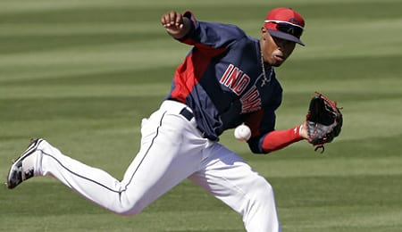 Francisco Lindor's walk rate has slipped for the Cleveland Indians.
