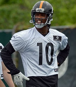Former Clemson star Martavis Bryant will try to improve the Pittsburgh Steelers pass attack.