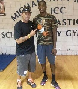 Billy with Brandon Knight of the Milwaukee Bucks.