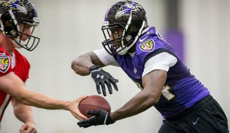 Lorenzo Taliaferro, the fourth round pick of the Baltimore Ravens, is starting to pay off.