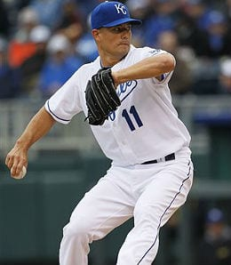 Jeremy Guthrie got into hot water for the Kansas City Royals.