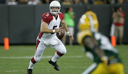Drew Stanton did a good job of getting rid of the ball quickly for the Arizona Cardinals.