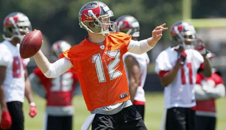 Josh McCown is throwing the ball a lot for the Tampa Bay Buccaneers.