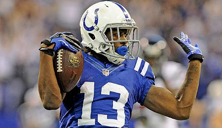 T.Y. Hilton is closing in on 1,000 yards receiving for the Indianapolis Colts.