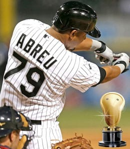 Jose Abreu bashed his way to hardware for the Chicago White Sox.