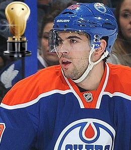 Justin Schultz is being pressed too hard by the Edmonton Oilers.