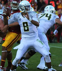 Marcus Mariota could be the top overall pick for the Oregon Ducks.