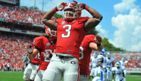 Todd Gurley of the Georgia Bulldogs is one of the top running backs in this year's draft class.