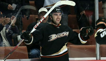 Kyle Palmieri has been racking up the points this week for the Anaheim Ducks.