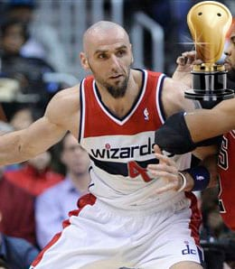 Marcin Gortat showed his sense of humour for the Washington Wizards.