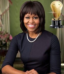 Michelle Obama showed a fun side.