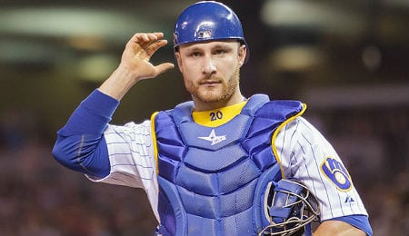Jonathan Lucroy is a workhorse for the Milwaukee Brewers.