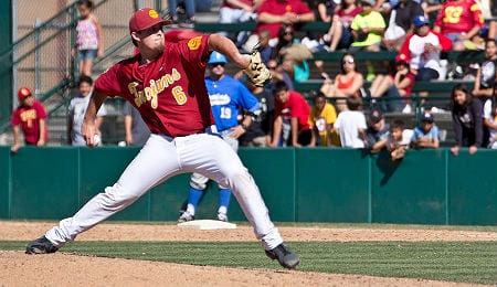 Kyle Davis has turned into a stellar closer for the University of South California Trojans.