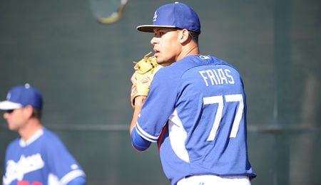 Carlos Frias was impressive in his debut for the Los Angeles Dodgers.