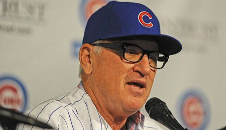 Joe Maddon was hired by the Chicago Cubs on the up and up.
