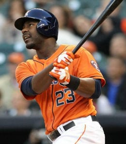 Chris Carter is prone to the strikeout for the Houston Astros.
