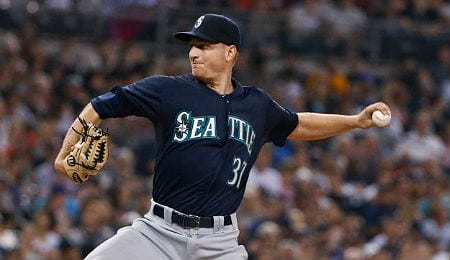 Mike Montgomery is putting up goose eggs for the Seattle Mariners.