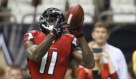 Julio Jones knows how to shake off defenders for the Atlanta Falcons.