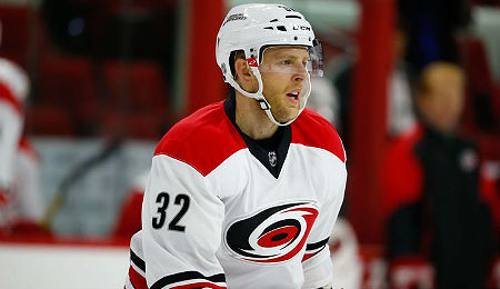 Kris Versteeg is playing on the top line for the Carolina Hurricanes.