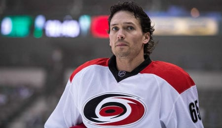 Ron Hainsey has been piling up the points lately for the Carolina Hurricanes.