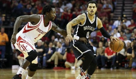 Shane Larkin is playing well off the bench for the Brooklyn Nets.