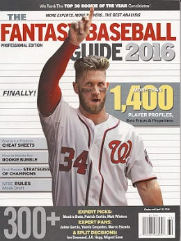 2016 Fantasy Baseball Guide