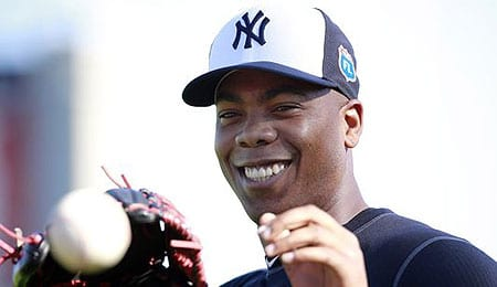 Aroldis Chapman takes over as closer of the New York Yankees.