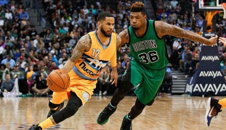 D.J. Augustin is supplying nice offense off the bench for the Denver Nuggets.