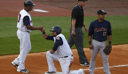 Donovan Solano is trying to work his way back to the bigs for the New York Yankees.