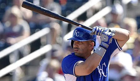 Kendrys Morales is starting to have some good games for the Kansas City Royals.