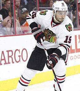 Artem Anisimov is playing on the most productive line for the Chicago Blackhawks.