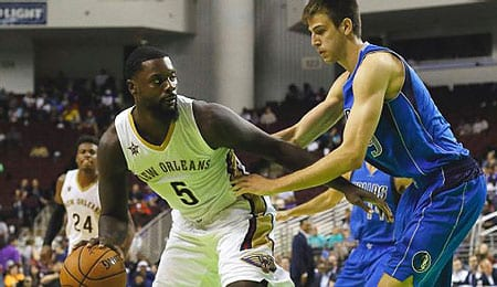 Lance Stephenson is taking advantage of injuries on the New Orleans Pelicans.