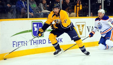 Mike Fisher is piling up the goals for the Nashville Predators.