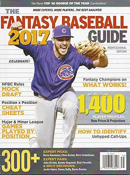 The 2017 Fantasy Baseball Guide