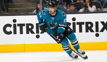 Mikkel Boedker is starting to enjoy life on the second line for the San Jose Sharks.