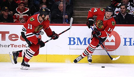 Richard Panik is really clicking with his linemates for the Chicago Blackhawks.