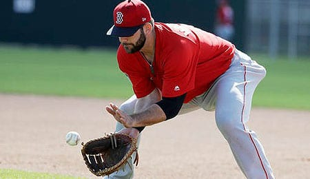 Mitch Moreland is racking up the hits for the Boston Red Sox.