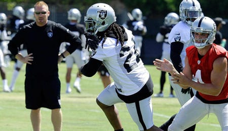 Marshawn Lynch has returned to play for his hometown Oakland Raiders.