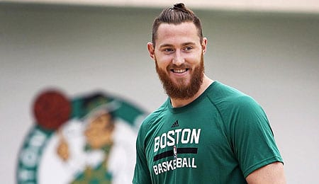 Aron Baynes is getting a bigger role with the Boston Celtics.