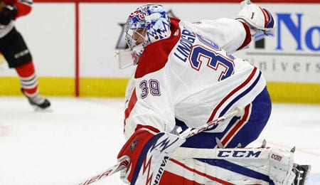 Charlie Lindgren has taken over the net for the Montreal Canadiens.