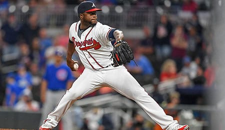 Arodys Vizcaino should return soon for the Atlanta Braves.