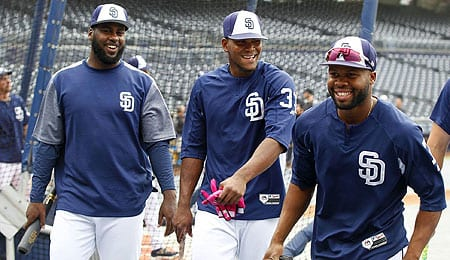 Franmil Reyes has hit very well for the San Diego Padres.