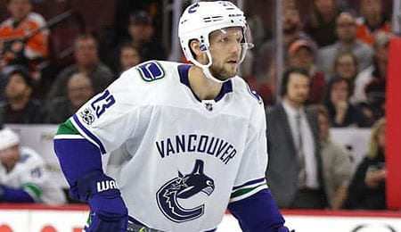 Alexander Edler is producing for the Vancouver Canucks.