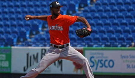 Sandy Alcantara could be the first ace for the Miami Marlins since Jose Fernandez.