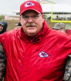 Andy Reid has led the Kansas City Chiefs to the top of the AFC.