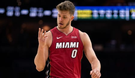 Meyers Leonard could get more action for the Miami Heat.