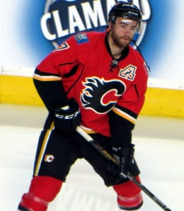 T.J. Brodie is seeing more action for the Calgary Flames.