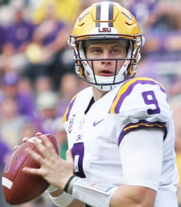 LSU Tiger QB Joe Burrow is expected to go first overall in the 2020 NFL Draft.