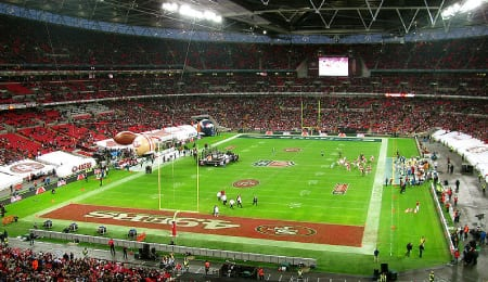 In 2010, the San Francisco 49ers took on the Denver Broncos in London.