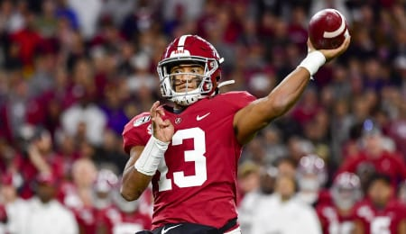 Tua Tagovailoa of the Alabama Crimson Tide is one of the more sought after QBs in the 2020 NFL Draft.